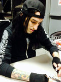 Christian Coma (22, brown eyes, black hair) *Drummer of BVB*